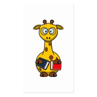 Arte de la jirafa del ratón de biblioteca plantilla de tarjeta de visita