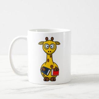 Arte de la jirafa del ratón de biblioteca taza