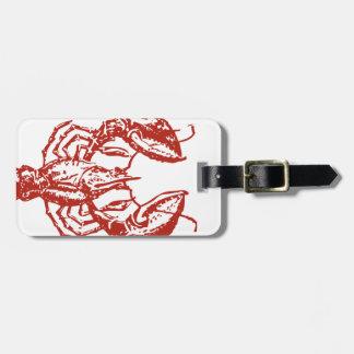 Arte de la langosta rey de los regalos de los mar etiquetas para maletas