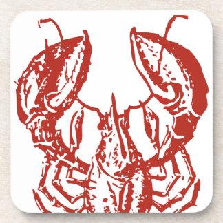 Arte de la langosta, rey de los regalos de los mar posavasos de bebidas