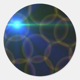Arte de la lente pegatina redonda