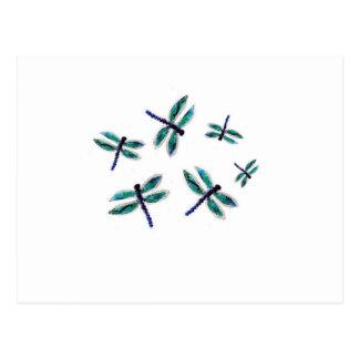 Arte de la libélula del baile postal