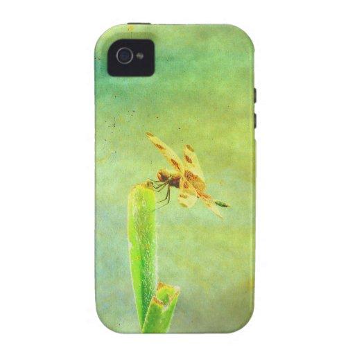 Arte de la libélula vibe iPhone 4 funda