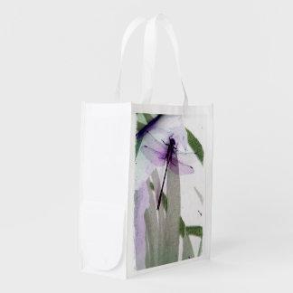Arte de la libélula bolsas reutilizables