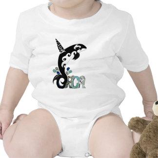 Arte de la libertad de la orca trajes de bebé