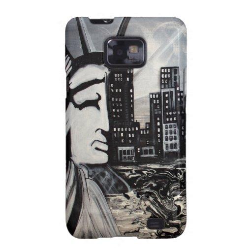 Arte de la libertad de Nueva York Samsung Galaxy SII Carcasas
