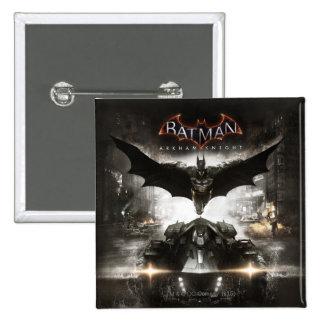 Arte de la llave del caballero de Batman Arkham Pin Cuadrado