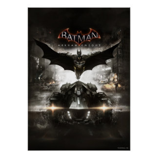 Arte de la llave del caballero de Batman Arkham Póster