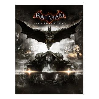 Arte de la llave del caballero de Batman Arkham Tarjeta Postal