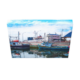 arte de la lona - barcos impresion de lienzo