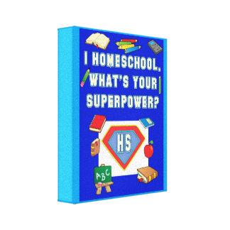 Arte de la lona de Homeschooler del super héroe Lona Envuelta Para Galerías