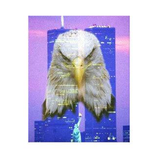 Arte de la lona de la conmemoración de WTC 9/11 pe Impresión De Lienzo