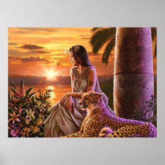 """""""Arte de la lona de la puesta del sol del Nilo"""" Poster"""