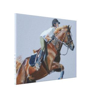 Arte de la lona del caballo y del jinete impresiones en lona