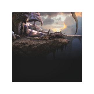 ARTE de la lona del dragón Lona Estirada Galerías