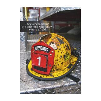 Arte de la lona del valor del bombero impresión en lona estirada