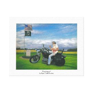 Arte de la lona, motocicleta y tema del Cuerpo del Lona Envuelta Para Galerías