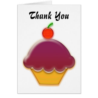 Arte de la magdalena de la frambuesa y de la tarjeta de felicitación