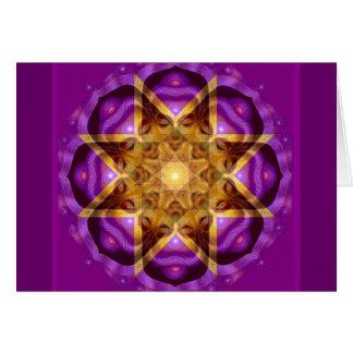 Arte de la mandala de Buda Tarjeta De Felicitación