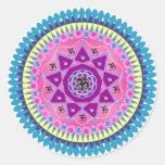 Arte de la mandala pegatina redonda