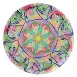Arte de la mandala - plato