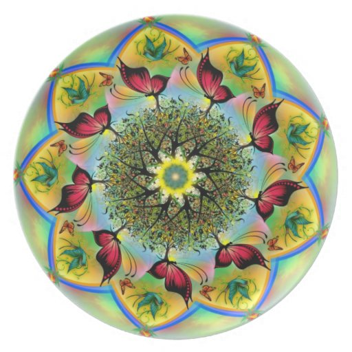 Arte de la mandala platos para fiestas