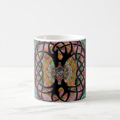 Arte de la mandala taza