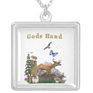 Arte de la mano de dioses colgante cuadrado
