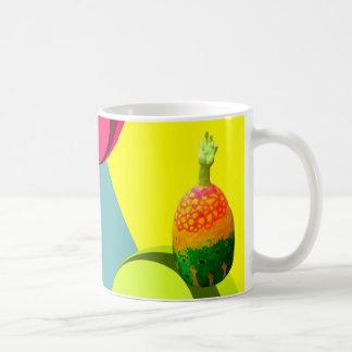 arte de la mano del huevo taza de café