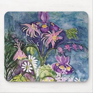 Arte de la margarita del iris de Columbine Tapete De Ratón