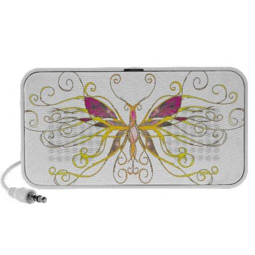 Arte de la mariposa laptop altavoces