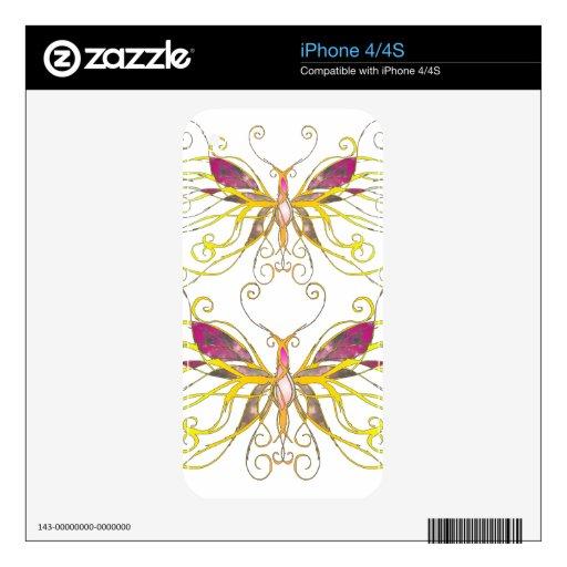 Arte de la mariposa skin para el iPhone 4S