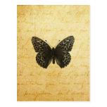 Arte de la mariposa tarjeta postal
