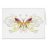 Arte de la mariposa tarjeton