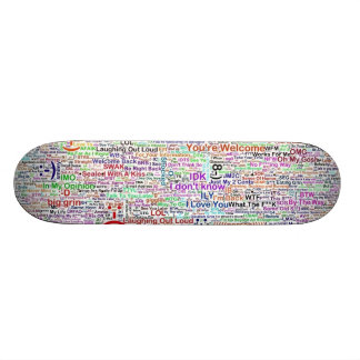 Arte de la mazarota de la charla del Internet Tablas De Skate