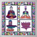 ARTE de la meditación de la yoga de BUDA Chakra Sh