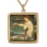 Arte de la mitología del Victorian, sirena por el Colgante Cuadrado