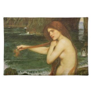 Arte de la mitología del Victorian, sirena por el Mantel Individual