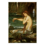 Arte de la mitología del Victorian, sirena por el Póster