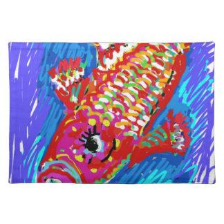 Arte de la MOD del expresionismo de los pescados Mantel