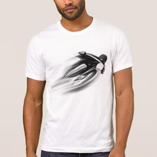 ARTE de la MOTOCICLETA del VINTAGE, T-SHIRTS.black Camiseta