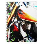 Arte de la motocicleta libretas espirales