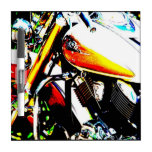 Arte de la motocicleta pizarra blanca