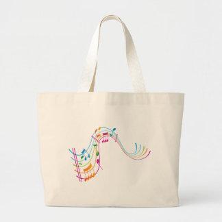 Arte de la música bolsas lienzo