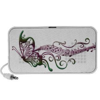 Arte de la música de la mariposa altavoz de viajar