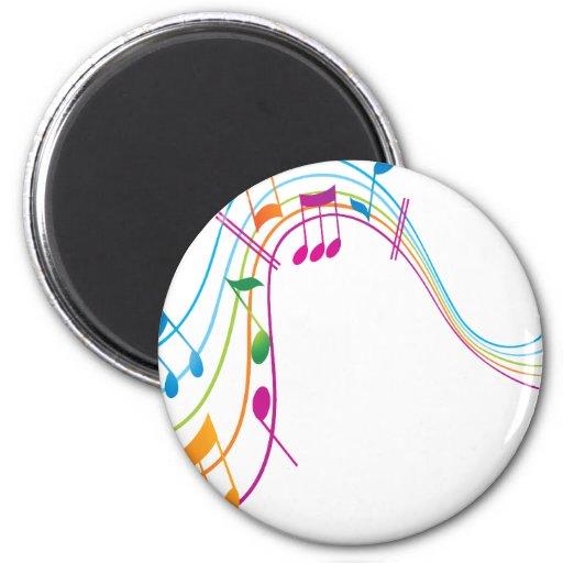 Arte de la música imán redondo 5 cm
