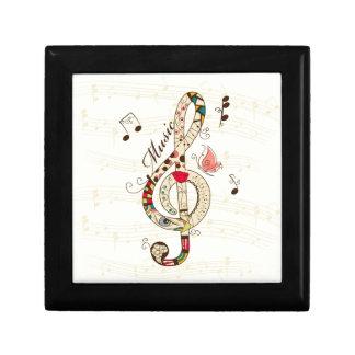 Arte de la música joyero cuadrado pequeño