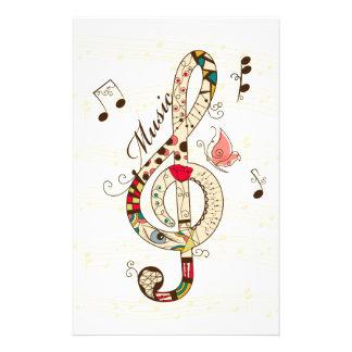 Arte de la música  papeleria de diseño