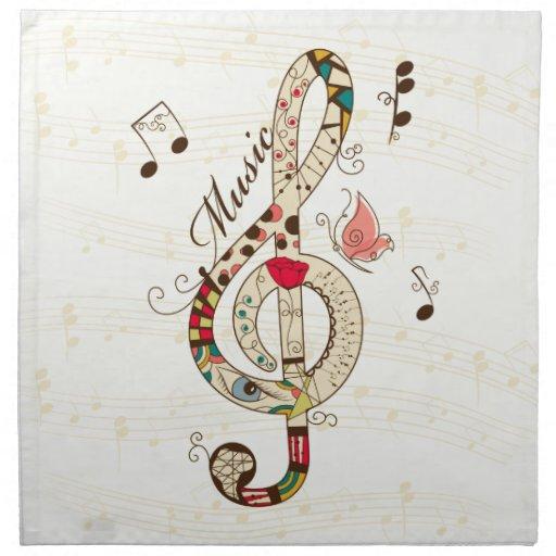 Arte de la música servilleta de papel