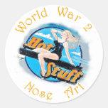 Arte de la nariz de WW 2 Etiqueta Redonda